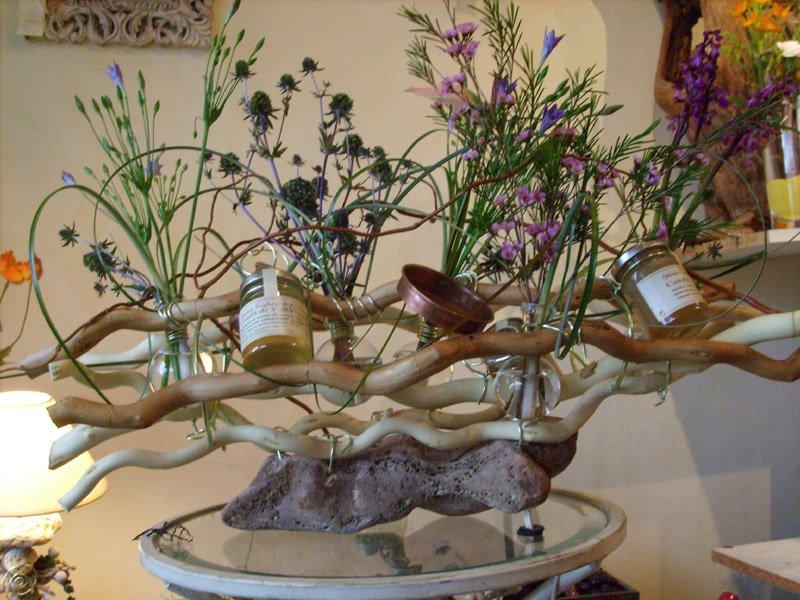 Fleuriste pour mariage com for Centre de table mariage bois flotte